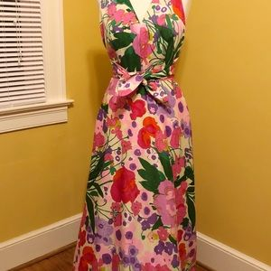 Vintage Tori Richard Honolulu Floral Maxi Dress